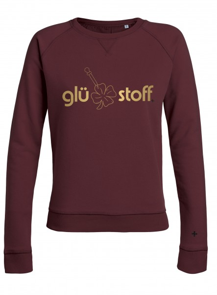 Sweater #happystoff - burgundy